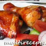 Куриные голени в томатном соусе с овощами