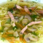 Суп с кускусом и ветчиной