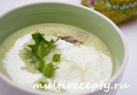 Суп-пюре в мультиварке с белой фасолью