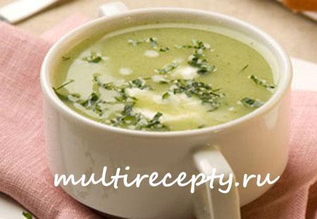 Овощной суп-пюре со сливками и фасолью