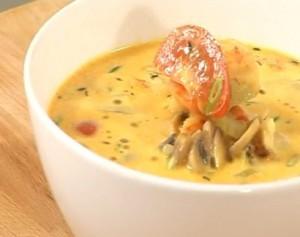 Суп сливочный с креветками