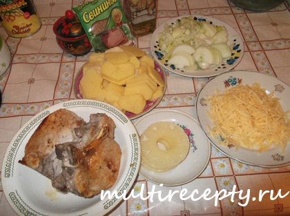 Готовим свинину в мультиварке с ананасом рецепт