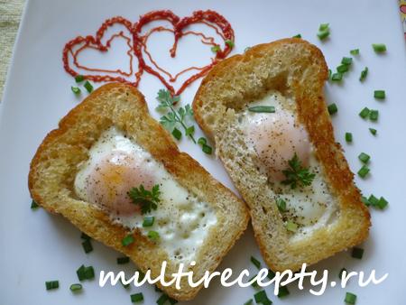 Яичный завтрак в мультиварке