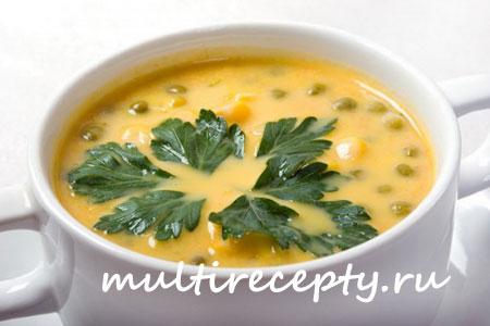 Суп гороховый с сыром в мультиварке