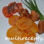 Жареный картофель с индюшиным мясом