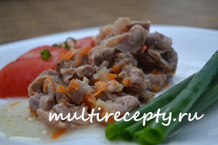 Куриные желудки в мультиварке рецепт с фото