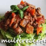Кабачки с мясом в мультиварке