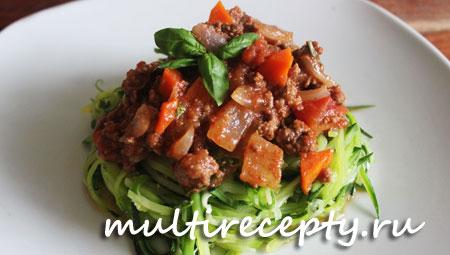 Кабачки с мясом в мультиварке рецепт