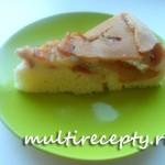 Яблочно-персиковая шарлотка