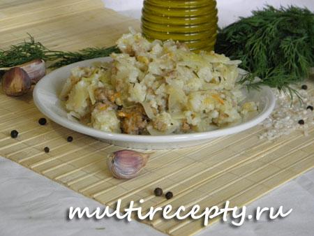 Ленивые голубцы в мультиварке фото рецепта приготовления