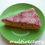 Творожно-клюквенный пирог