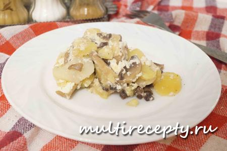 Гратен со сметаной и без сыра - оригинальный рецепт