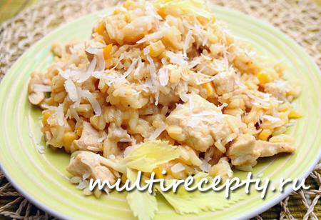 Ризотто с курицей можно готовить часто и всегда будет вкусно