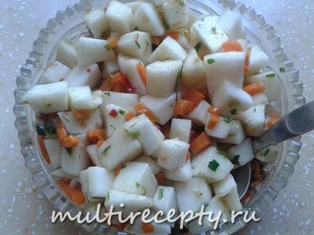 Салат с дыней для взрослых
