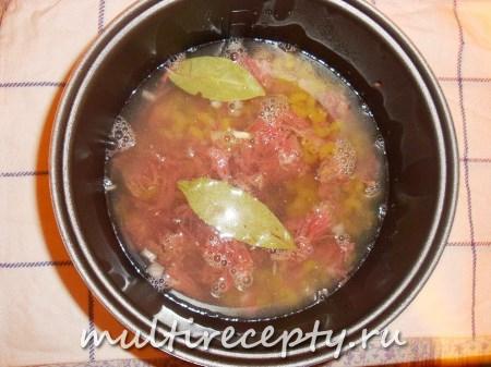 макароны с тушенкой в мультиварке фото рецепт