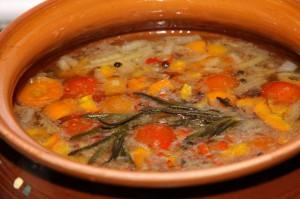 Запеченный постный суп
