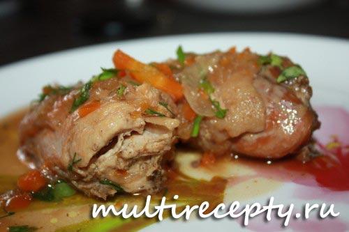 Домашняя курица в мультиварке рецепт с фото
