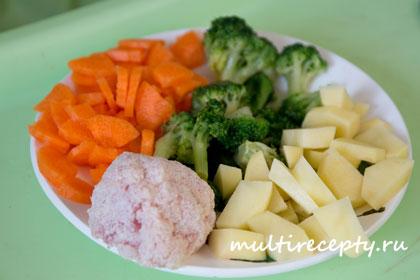Детский обед в мультиварке рецепт