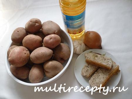 Жаренная картошка в мультиварке с салом