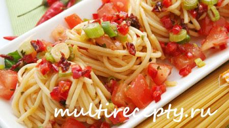 Рецепт спагетти в мультиварке