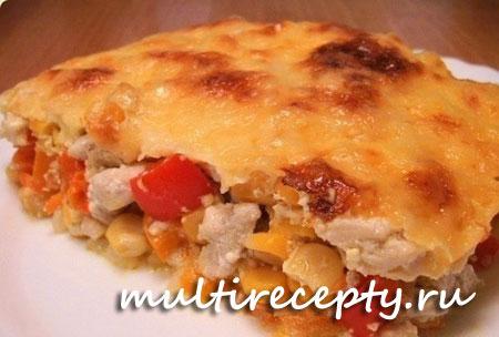 Запеканка из кукурузы с курицей в мультиварке рецепт