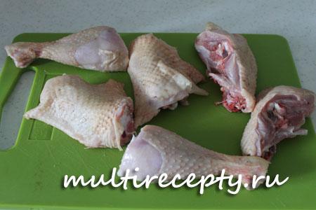 Приготовление курицы с кабачками в мультиварке