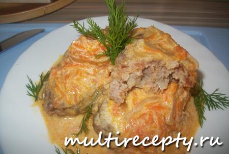 Голубцы ленивые со сметаной очень вкусное и сытное блюдо