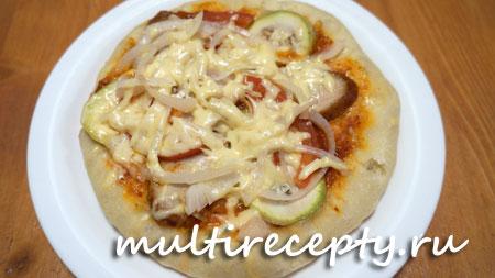 Вкусная пицца с кабачками в мультиварке