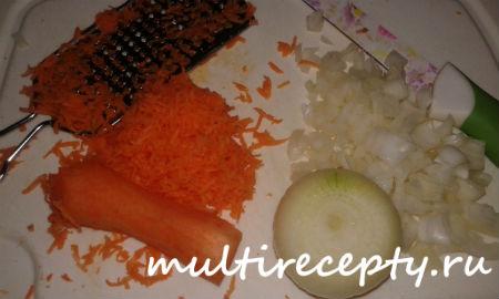 Морковь с луком нашинковать