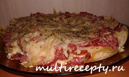 """""""Ленивая"""" пицца в мультиварке"""