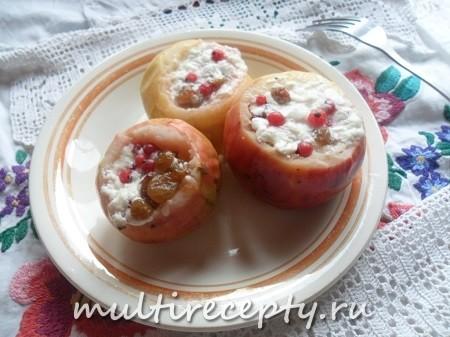 Яблоки с творожной начинкой