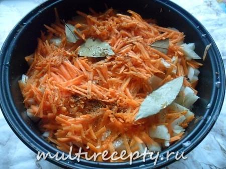Постная картошка с капустой в мультиварке